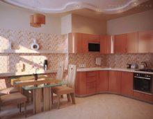 Boja breskve u unutrašnjosti kuhinje